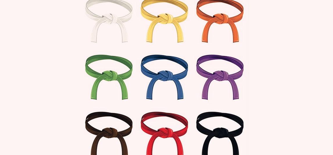World Taekwondo belts