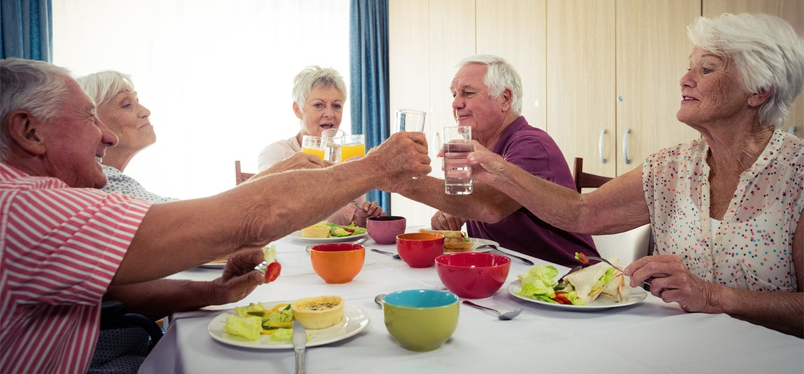 staying at retirement home